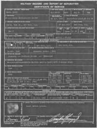 Shaw's US Army Record